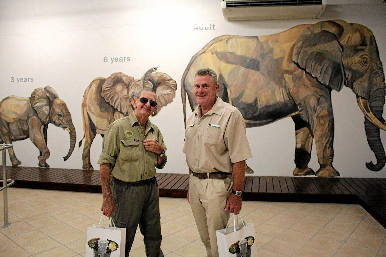 JOURNEY OF A LIFETIME: Bob Irwin at the Letaba Elephant Hall. Pictured here with Kevin Moore.