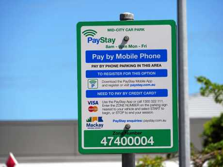 The new PayStay system in Mackay city centre was switched on April 18.