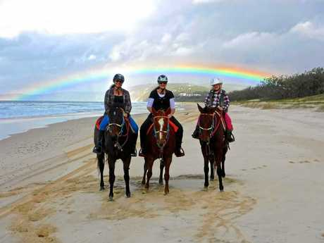 Take a seven-day horse ride with Rainbow Beach Horse from May 11-17.