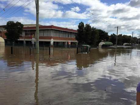 Trinity Catholic College during Lismore Flood 2017