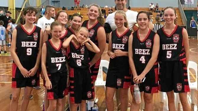 BEEZ BUZZ: The Under 14 Girls Beez Team One.