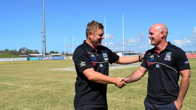 Cutters coach Steve Sheppard wishes U20s coach Grant Rovelli good luck in his grand final this weekend.