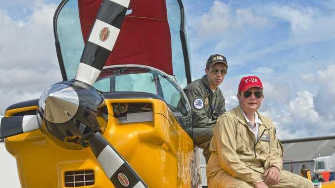 FLYING HIGH: Marco Handley (left) and Nicholas Galea at last year's David Hack Classic Meet.