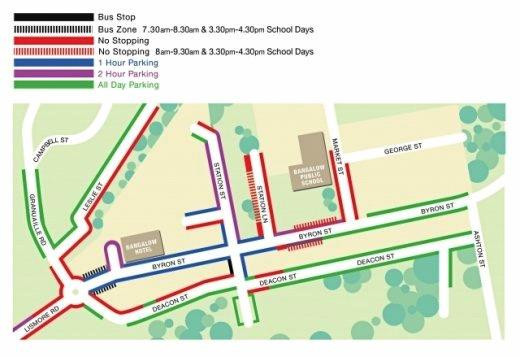 Proposed parking times for Bangalow village centre