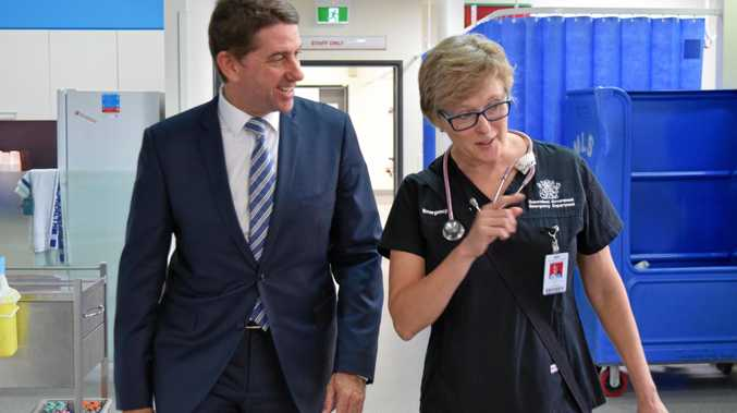 Health Minister Cameron Dick with Dr Kylie Baker who is leading a state government-funded trial that could revolutionise the way heart and lung issues are diagnosed.