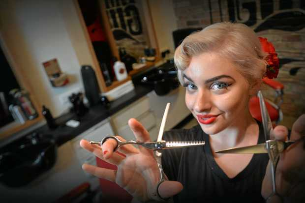 Hatsie-May Brakels, 19, is already the head barber at Tommy Guns Barber Shop and a pinup model. Shes about to head to the Barber Wars competition preliminary finals in Sydney this weekend, and in June she will compete in the Miss Pinup Australia finals.