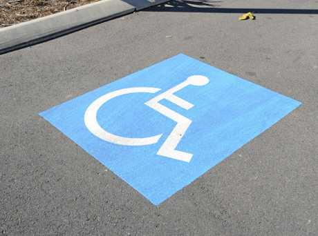 Disabled parking spots.  Photo: Alistair Brightman / Fraser Coast Chronicle