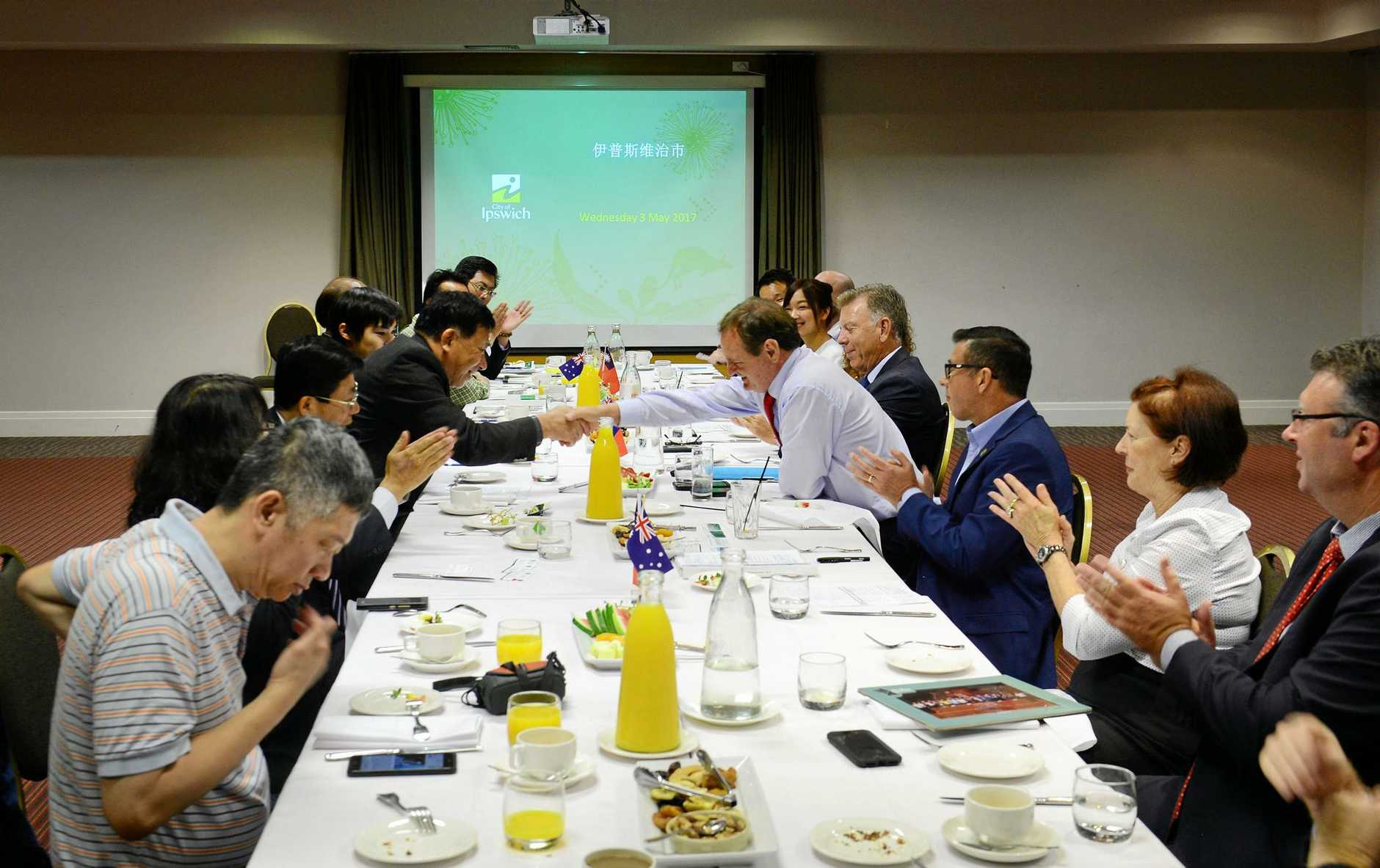 Nantou County delegates from Taiwan enjoyed lunch with Ipswich councillors at Metro Hotel International.
