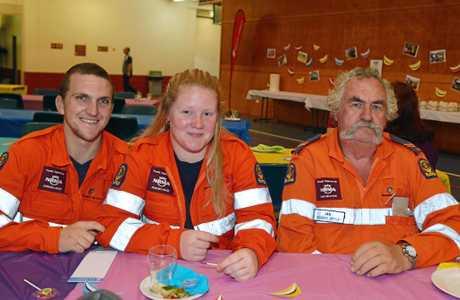 Gympie Volunteers Rohan Chandler, Amy Halse and Ian Cocks.