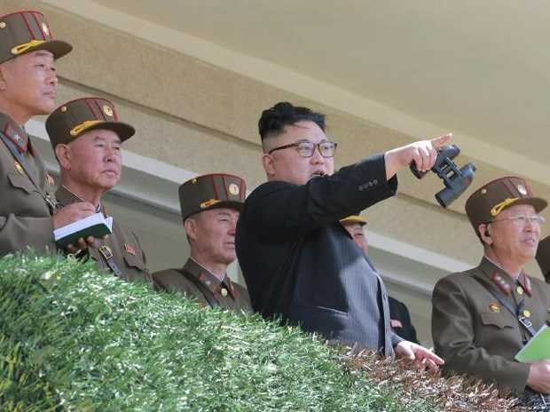 North Korean leader Kim Jong-un centre was reportedly unhappy with the botched test