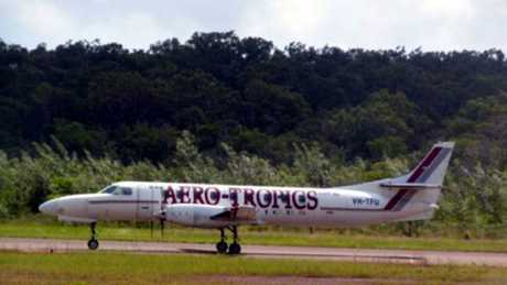 The Aero-Tropics Metroliner turboprop plane that crashed in dense forest 10km from Iron Range Airport at Lockhart River.
