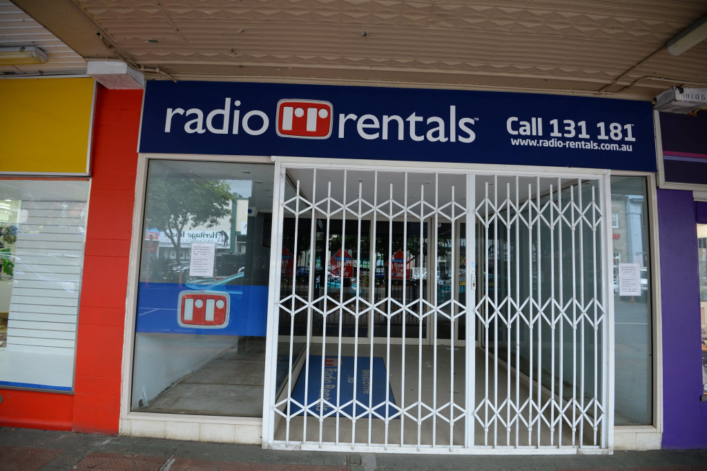 Radio Rentals in Lismore after the flood.
