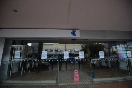 The Telstra store in Lismore after the flood.
