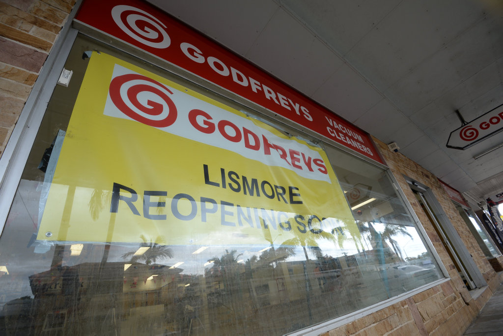Godfreys in Lismore after the flood.