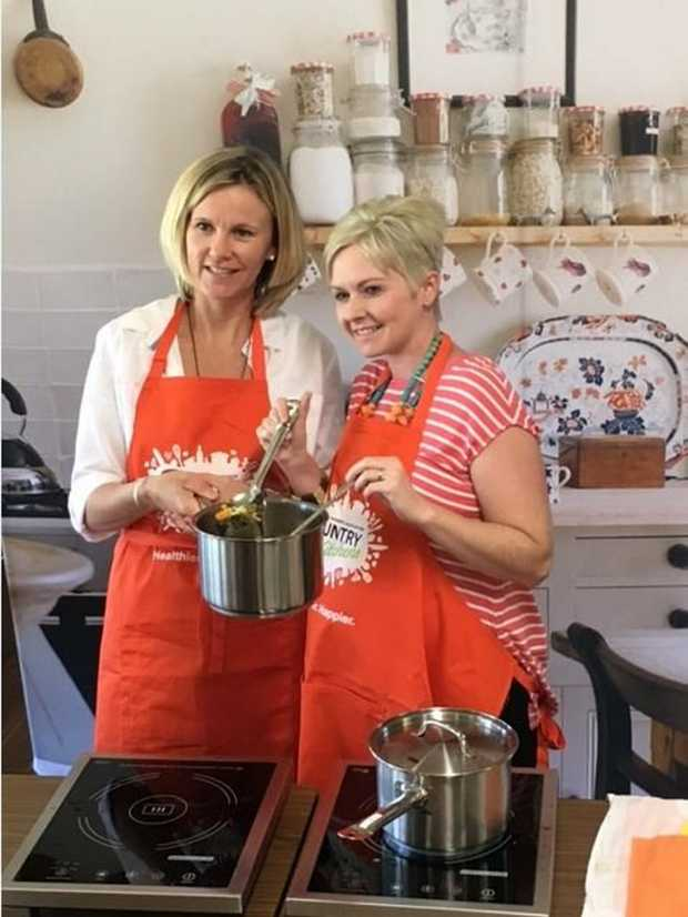 WHAT'S COOKING: Danielle Pappin and Danielle Mastrippolito at the Country Kitchens Hands On Nutrition Workshop in Ingham.