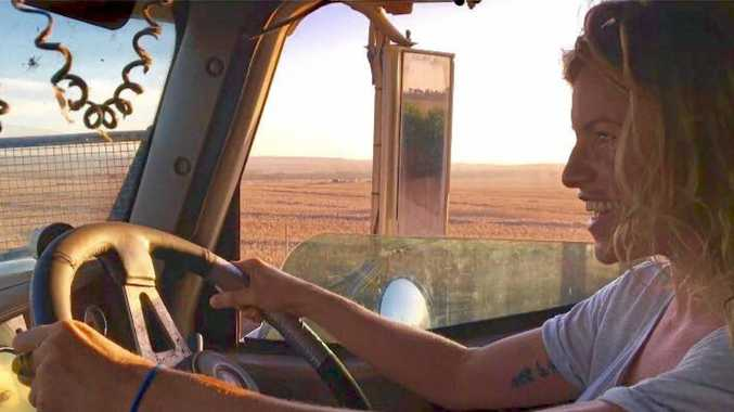 SIGHTSEEING: Lindsey Cole seeks adventure on the open road by travelling her way around Australia with truck drivers.