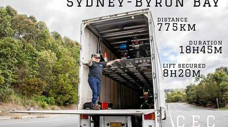 Cec, one of the many drivers who gave Lindsey a lift on her way to Byron Bay.