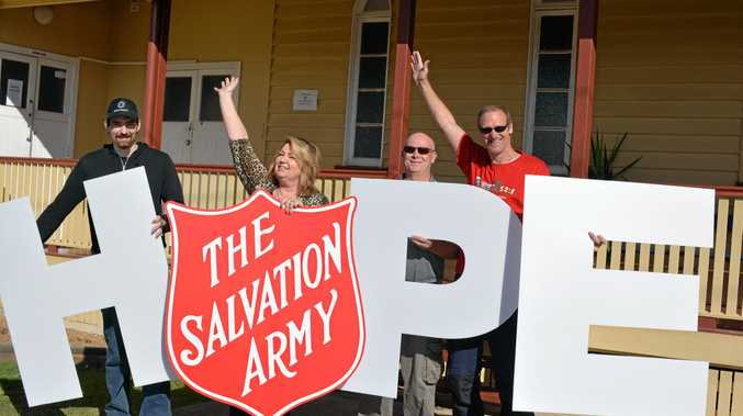 GET SUPPORT: Salvation Army Volunteers Alex Newton-Lilley, Dianna Castledine, Wayne Jacobs and Captain Craig Harlum invite those in need to celebrate recovery.