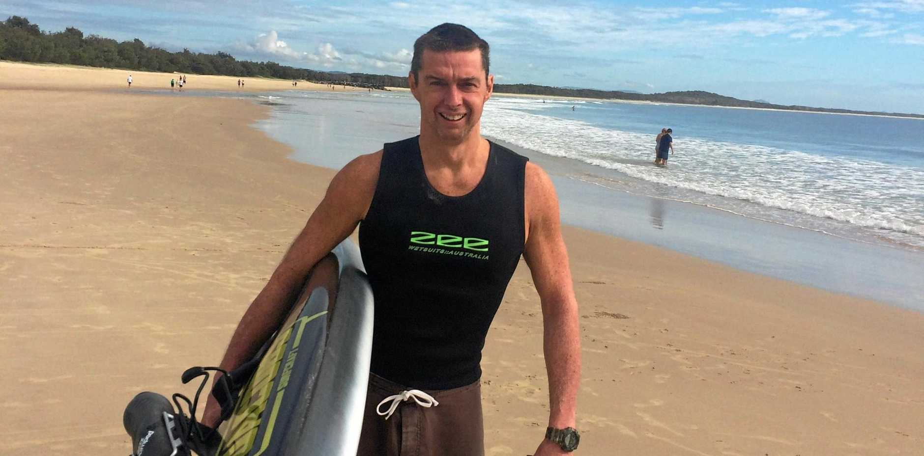 FIT FOR ANYTHING: Steven Roberts of Noosa ready to take on the prone paddle world titles at Molokai.