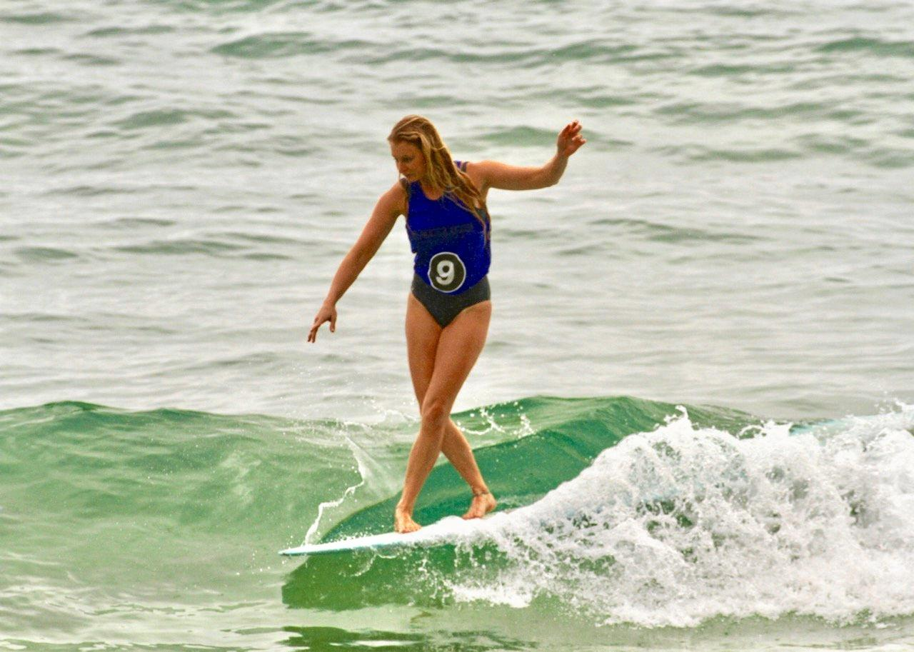 SURF ACTION: Jess Roberts in action at last year's Noosa Logger event.