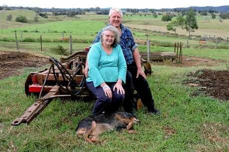 John and Jenny Cameron run a dairy farm in the Mary Valley.