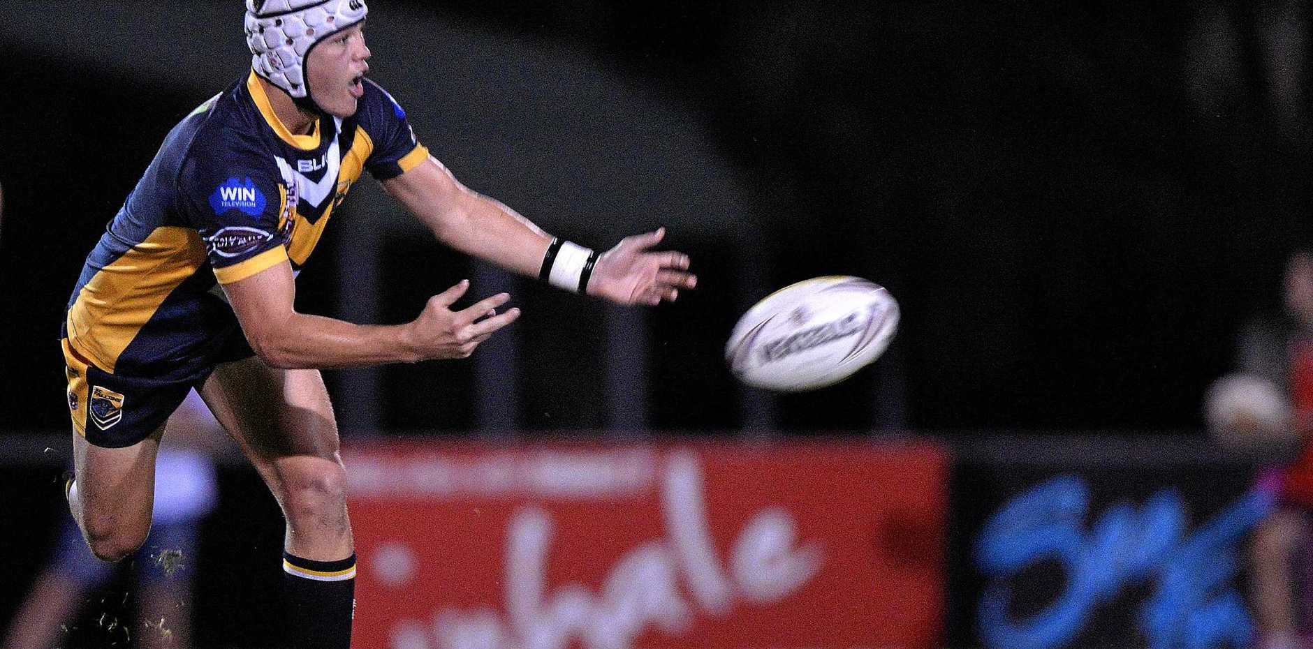 FILE: Sam Burns playing for the Sunshine Coast Falcons colts outfit.