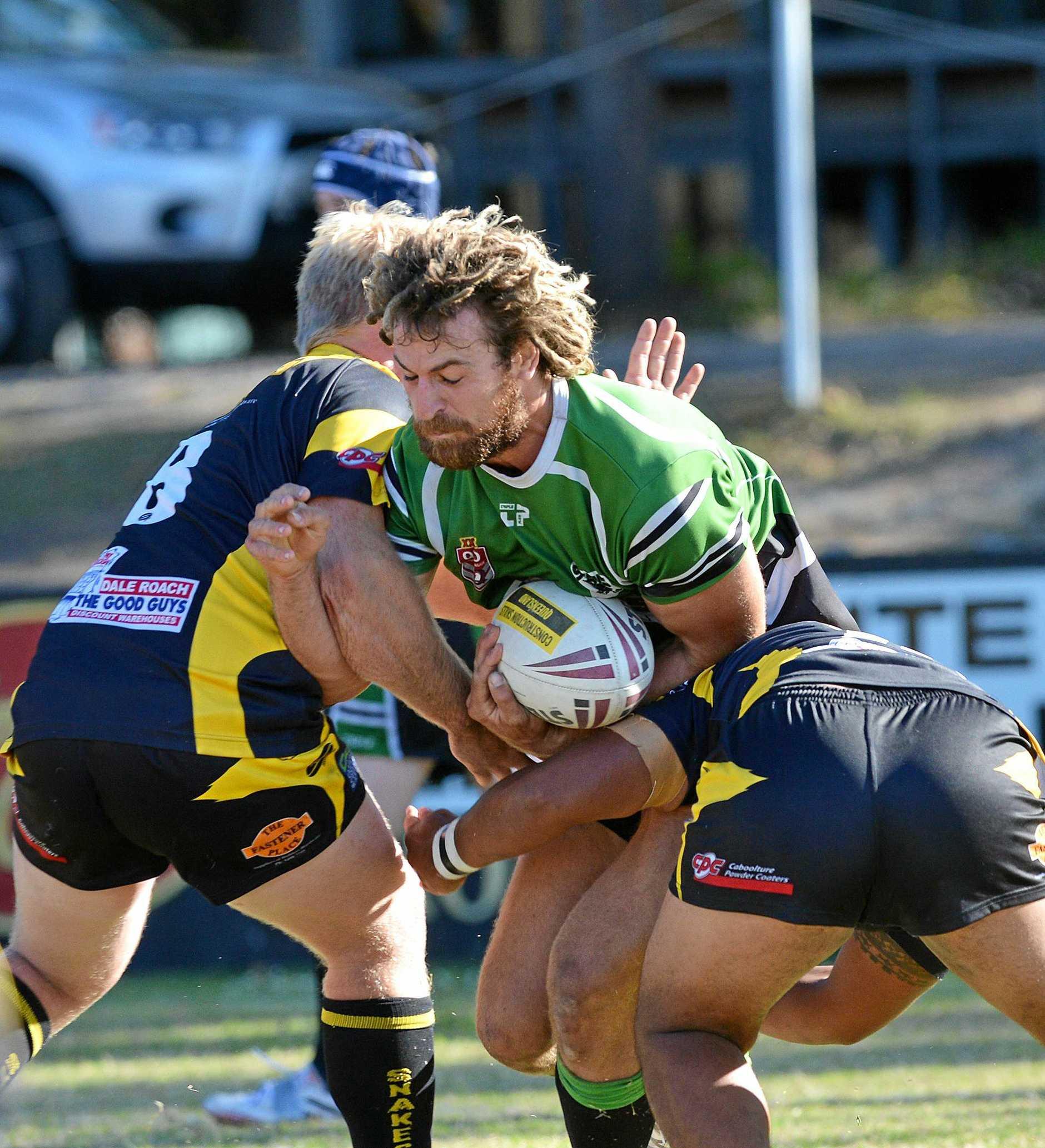 Rugby league match Maroochydore Coolum against Caboolture. Maroochydore forward Murray Goldsworthy  Photo: Warren Lynam / Sunshine Coast Daily
