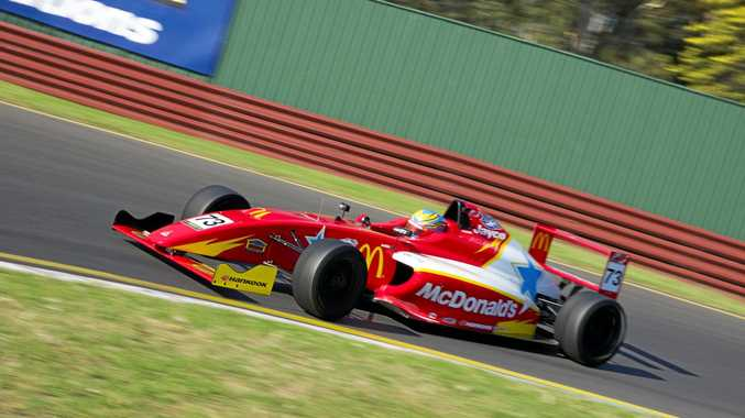 ON TRACK: Toowoomba driver Cameron Shields at the opening weekend of the Australian Formula 4 Championships at Sandown.