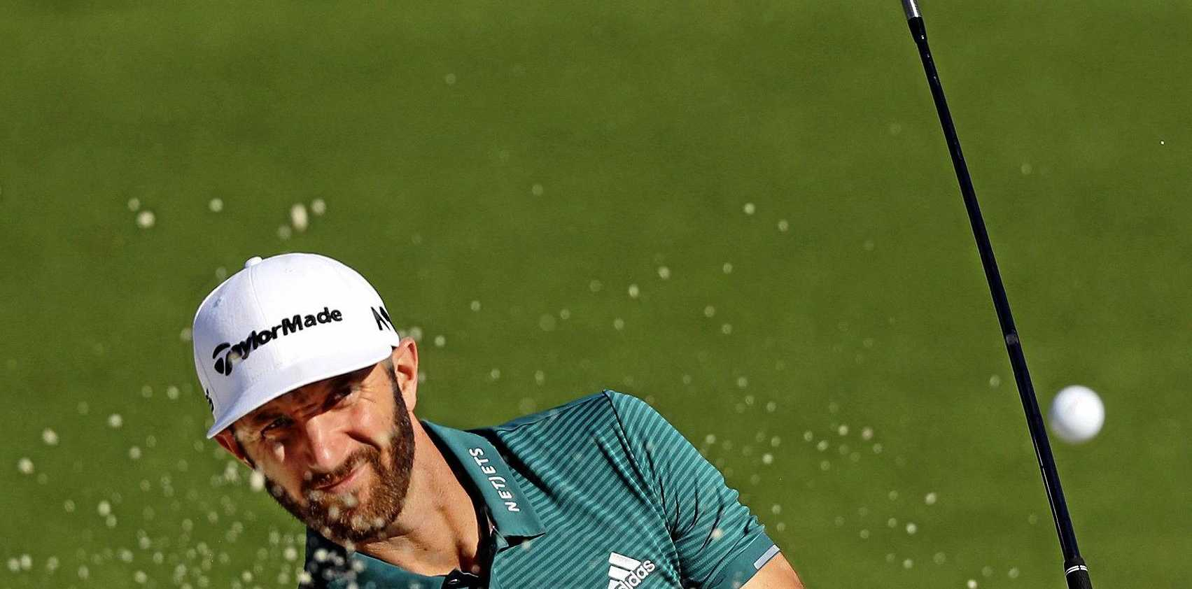IN FORM: Australian Adam Scott described Dustin Johnson's (pictured) recent run of three wins from as many starts as Tiger Woods-like.