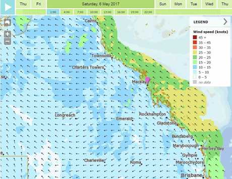 Strong winds are forecast for the Mackay region over the coming days.
