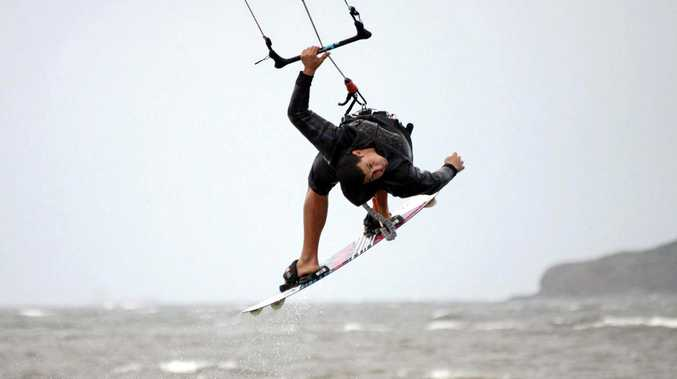 It'll be a great weekend for kitesurfers as a strong wind warning has been issued for the region.