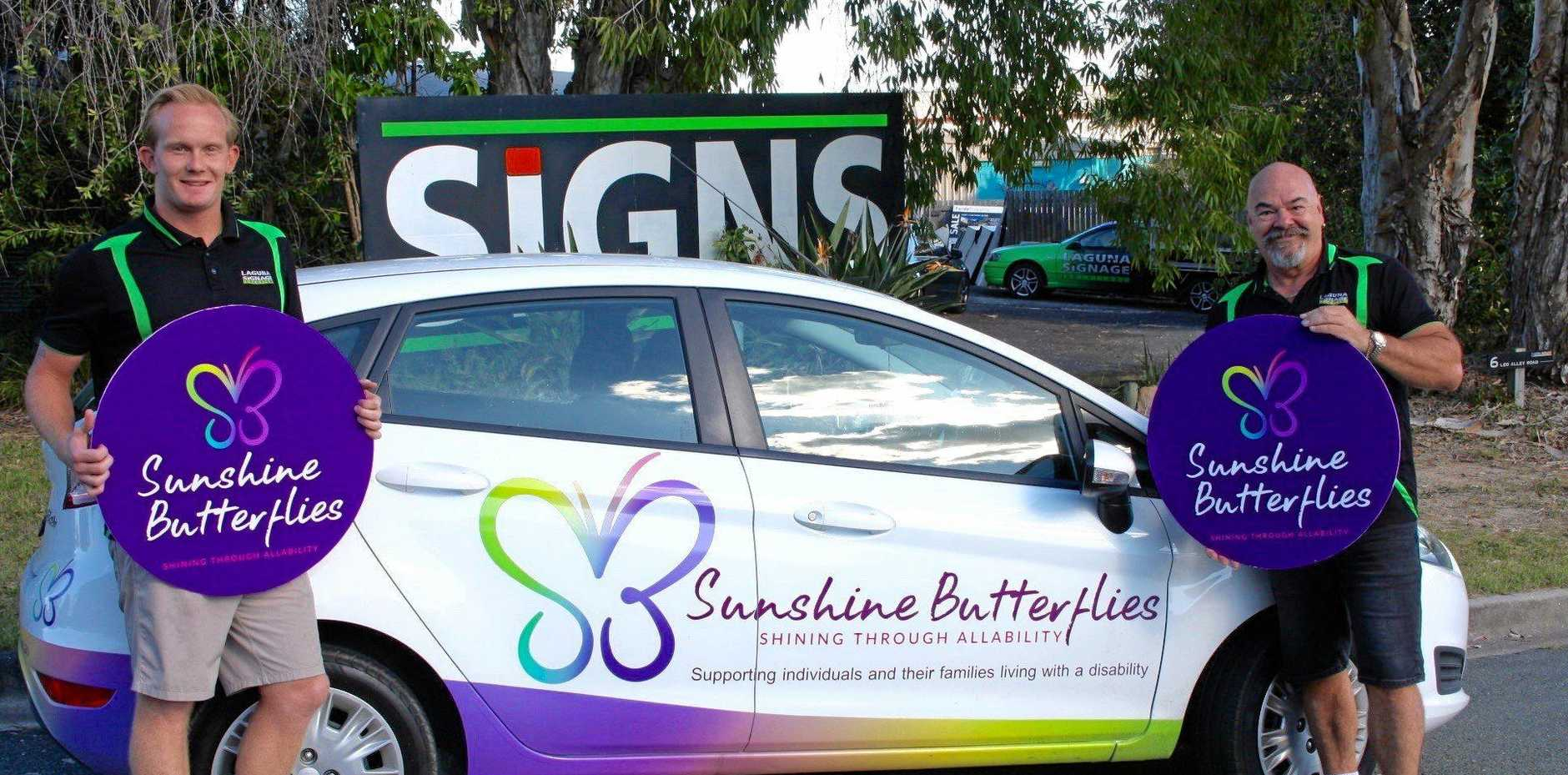 GOOD SIGN: Laguna Signage Solutions has given Sunshine Butterflies a three-year sponsorship.
