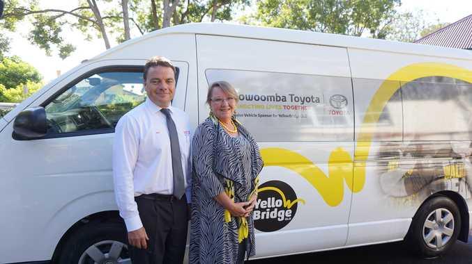 Toowoomba Toyota Dealer Principal Brett Motton will sponsor the YellowBridge QLD disability van for a further 12 months.
