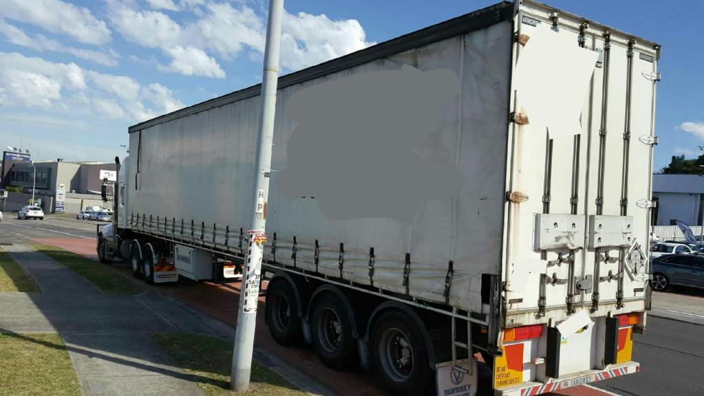 The truck that was caught speeding down Warringah Rd at Dee Why this week.