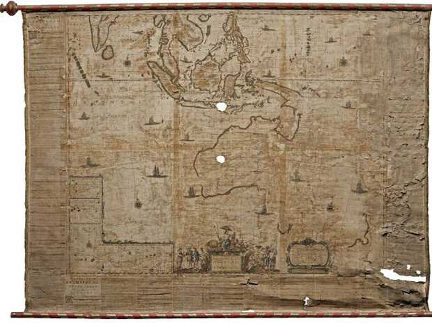 The map of Australia by Dutch cartographer Joan Blaeu, dated 1659.