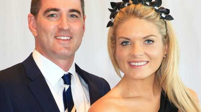 Erin Molan with fiance Sean Ogilvy. Picture: Toby Zerna Source:News Corp Australia