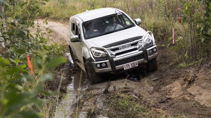 OFF-ROAD: 17MY Isuzu M-UX tackles the rough stuff in the Sunshine Coast hinterland.