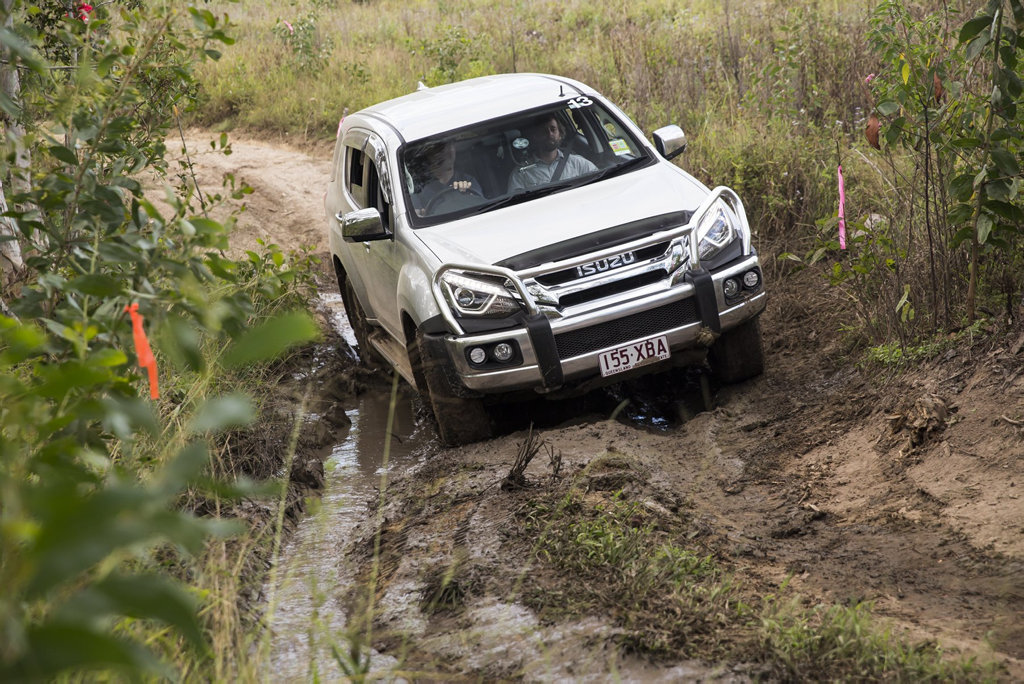 OFF-ROAD: 17MY Isuzu M-UX tackles the rough stuff in the Sunshine Coast hinterland.