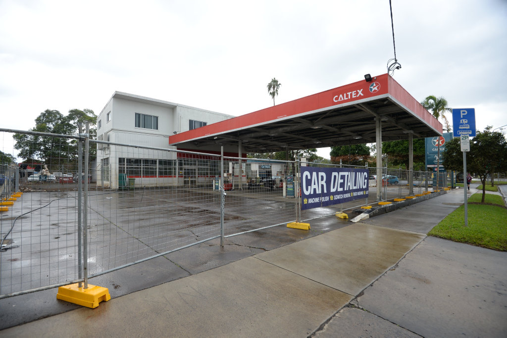 Caltex in Lismore after the flood.