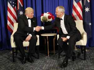 Trump and Turnbull hold first face-to-face meeting