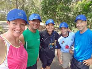 Team goes hiking for a worthy cause
