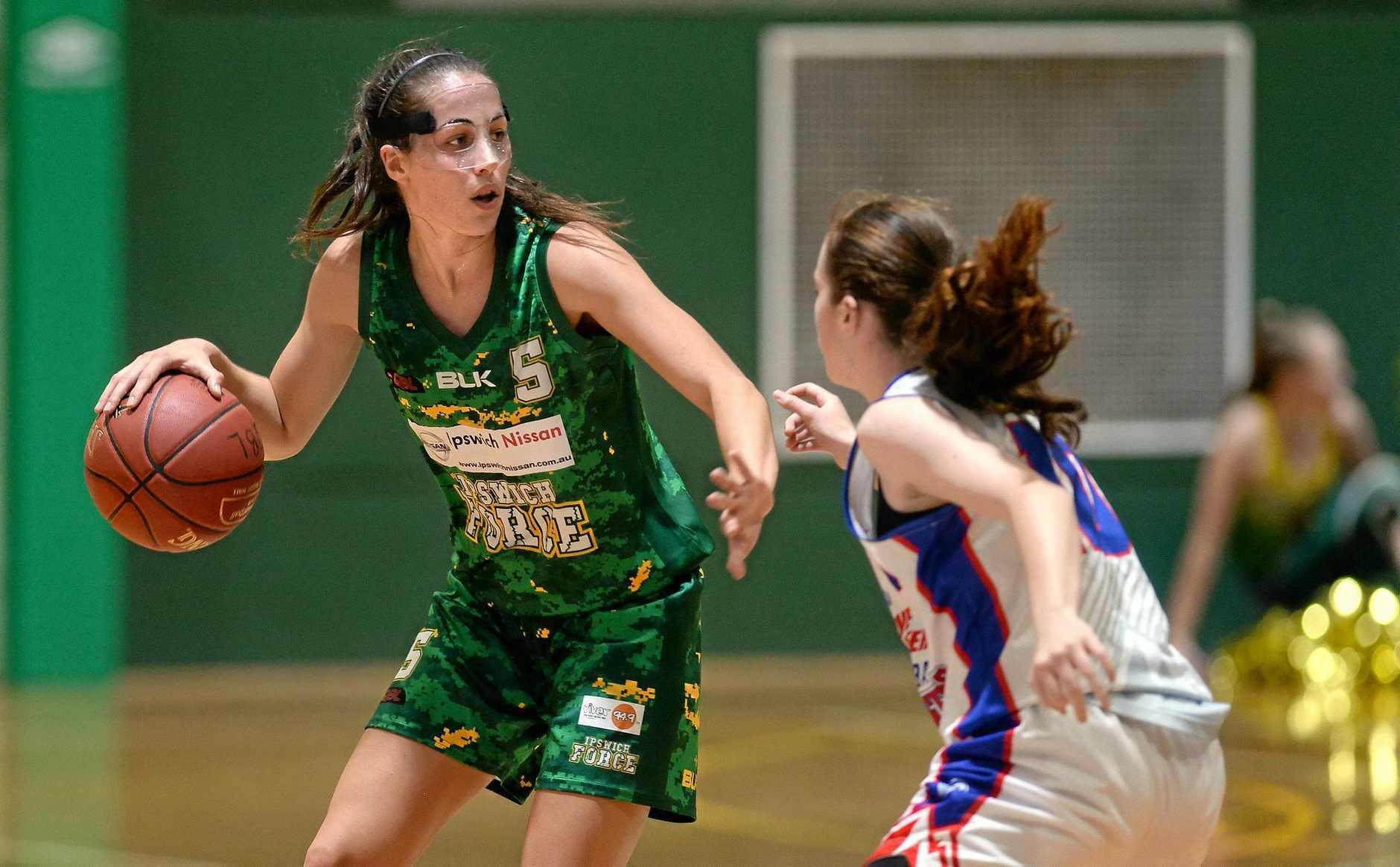 Ipswich Force v Toowoomba women's basketball played at Bundamba on Saturday night. Bree Farley.