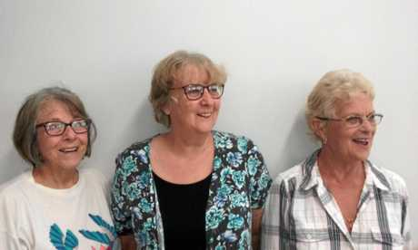 Bush Poets Breakfast guests (from left) Norma McCormick, Shirley McLean and Sadie McBride.