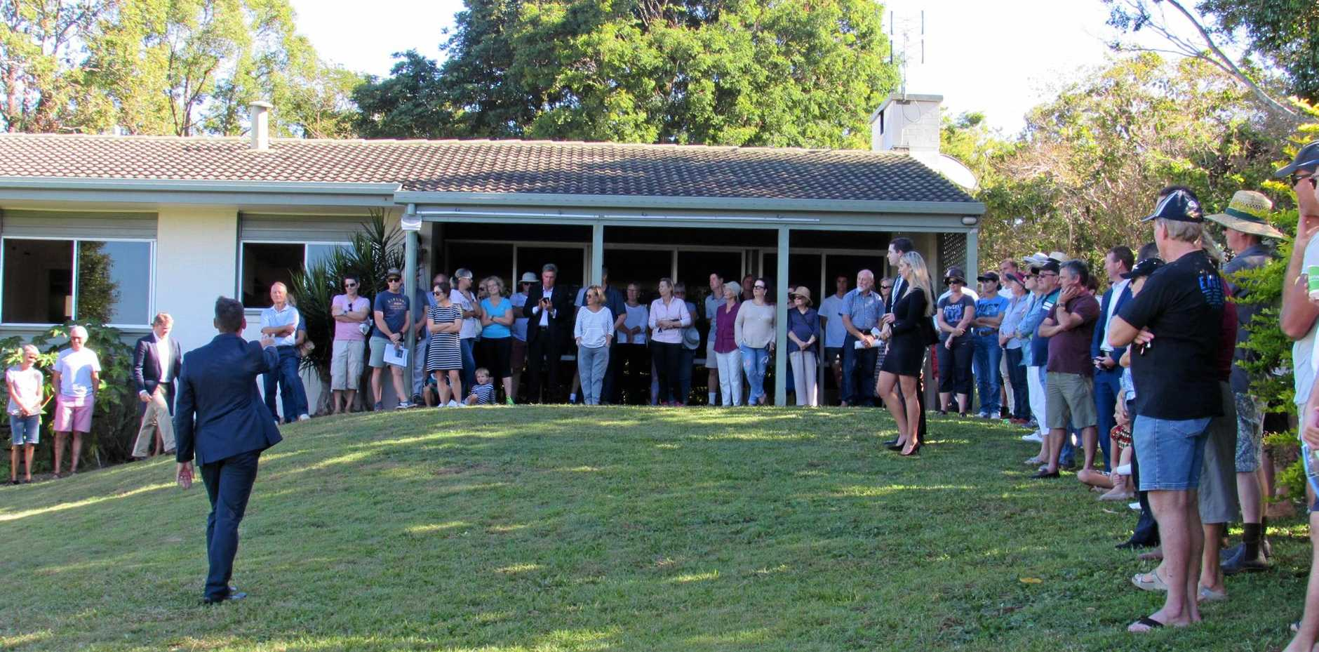 MARKET WATCH: Bidding was strong at the 14 Golf St, Buderim, auction.