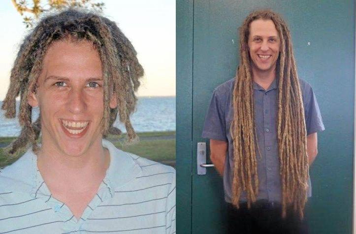 CUT FOR A CAUSE: Moranbah State School teacher Gareth Emblen will be cutting off his metre long dreadlocks to raise money for a worth cause on Friday.