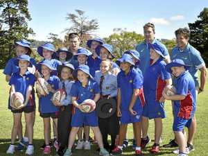 Wallabies hop in for Downlands College stopover