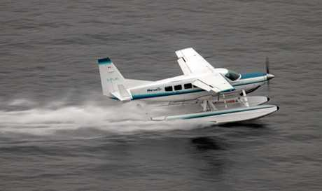 A Cessna 208 Seaplane, similar to the plane which crashed on Hamilton Island.
