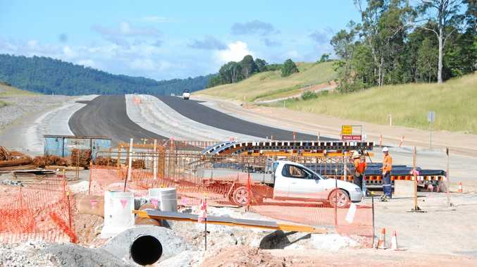 COMPLETED: Work when it was underway on the just completed and opened Section A of the Cooroy to Curra upgrade of the Bruce Hway. Section C is now being constructed and expected to be completed by the middle of next year. Federal MP Llew O'Brien then hopes work will be brought forward on Section D of the upgrade, which will take the Bruce Hwy around Gympie.