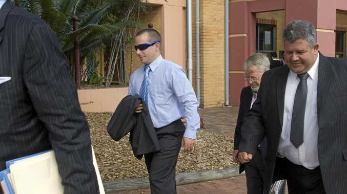 Edward 'Ned' Saffin leaves Lismore Court House ahead of sentencing for his involvement in an armed robbery. Photo Jay Cronan / The Northern Star