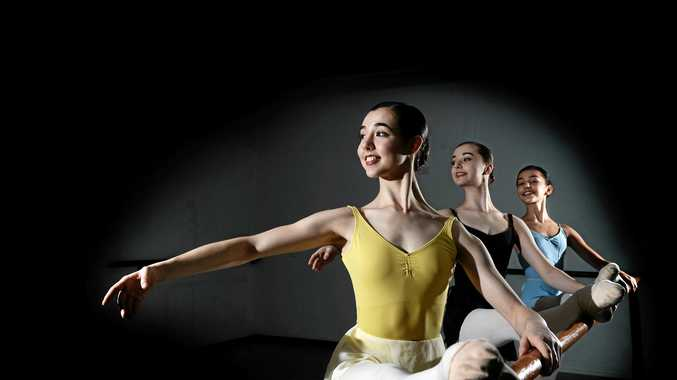 Layne Hampson, 17, Kayla Van Den Bogert, 15, Caitlin Garlick, 14,and  will be travelling on scholarships to different parts of the world to study ballet for two weeks.